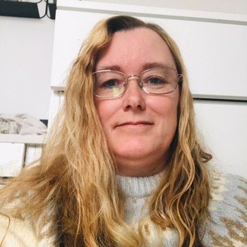 BLODFAN: Karina Brandt fra Danmark er blodfan av Keiino. FOTO: PRIVAT